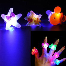 2017 Light-Up Jelly Rings Flashing LED Rave Party Favors Blinking Glow Finger Ring Wedding Birthday Party Supplies