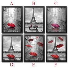 Diy Diamond Painting Cross Stitch Needlework Diamond Mosaic 5D Diy Diamond Embroidery Paris Red Umbrella Pattern Hobbies Crafts