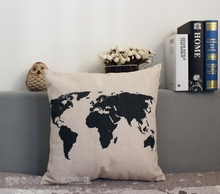Simple Black And White Style Comfortable Cotton Pillow Dinning Chair Cushion 45*45cm Retro design Wholesale