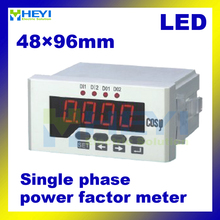 Single phase COS meters 48*96 mm LED display digital power factor meters(China)