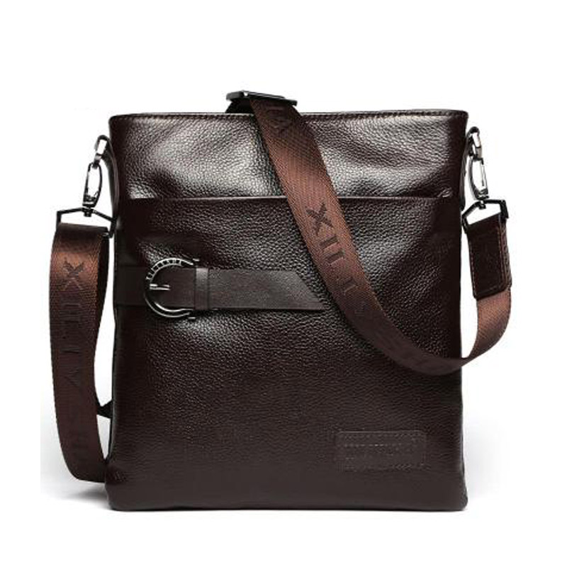 High Quality Real Cowhide Men Crossbody Bag Black Brown Shoulder Bags Business Man Small Sachets for iPad Tablet<br><br>Aliexpress