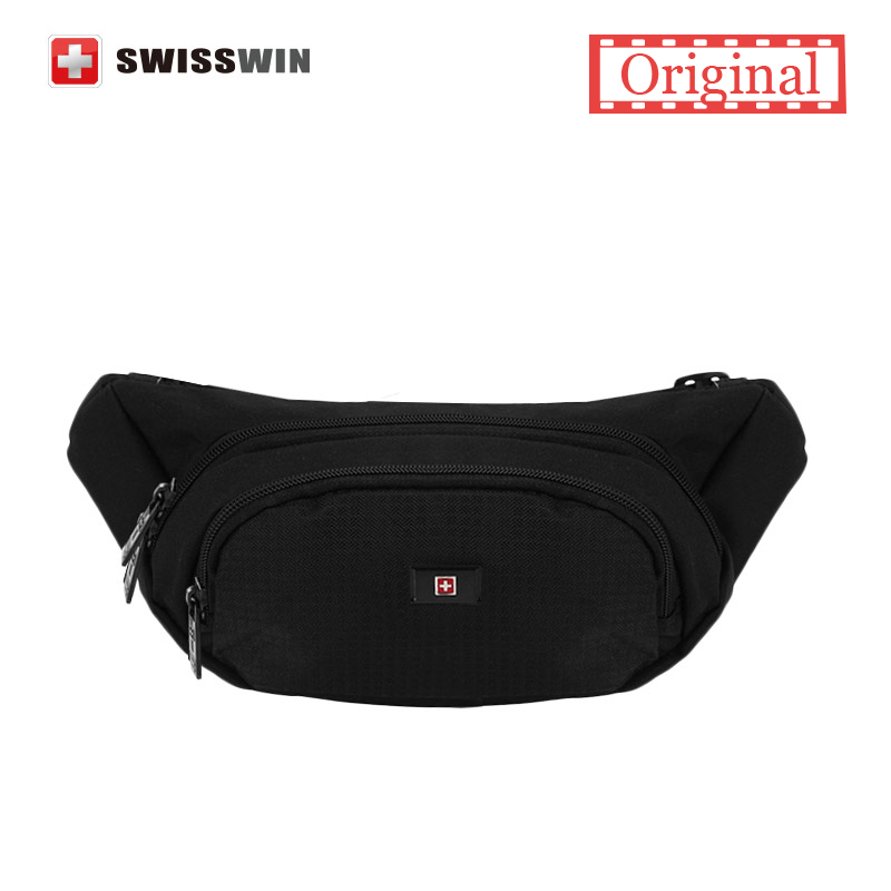 Swisswin Quality Small Casual Waist Pack For Men Waist Bag for Cellphone and Wallet Water-resistant Running Bag Black Travel Bag<br><br>Aliexpress
