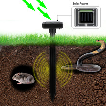 2Pcs Solar Powered Sound Wave Sonic Repeller Outdoor Garden Yard Farm Mouse Gopher Rat Vole Mole Scarer Snake Rodent Pest Reject