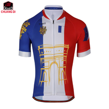 Tour de France Racing Bike Cycling Jersey Cycling Clothing Cycle/Breathable Men Mountain Bicycle Sportswear Roupa Ciclismo