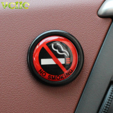 Aluminum alloy NO SMOKING Sign Tips Warning Logo Stickers Car Taxi Door Decal Badge Glue Sticker Promotion