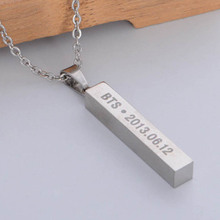 New Style BTS Bangtan Boys Titanium Steel Necklace For Women for Birthday Collares Girl Fashion Jewelry
