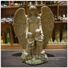Free Shipping Big Angel Asylum Seeker Resin Ornaments Decorations Lucky Christmas Gift Home Crafts