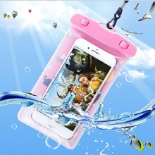 1psc waterproof phone bag transparent touchable pouch beach swimming bag(China)