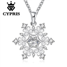 WHOLESALE N771 hot brand new fashion popular chain necklace18inch snowflake shape cz stone hot bold design wholesale jewelry