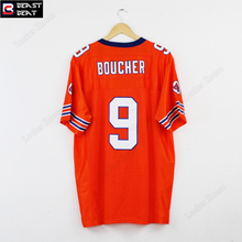Bobby Boucher #9 The Waterboy Football Jersey Adam Sandler White Orange Beast Beat American Football Jerseys futebol americano(China)