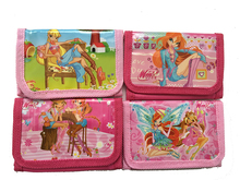 12pcs/lot Winx Club Butterfly Princess Coin Purse Cute Kids Cartoon Wallet Bag Pouch Children Purse Small Wallet Party Gift