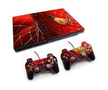 Spiderman Skins Stickers For PS2 Game Console+2pcs Controller Controle Decal Skin Stickers For Sony Playstation 2(China)