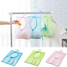 Super Deal 1pc Kitchen Bathroom Clothesline Storage Dry Doll Pillow Shelf Mesh Bag Hook