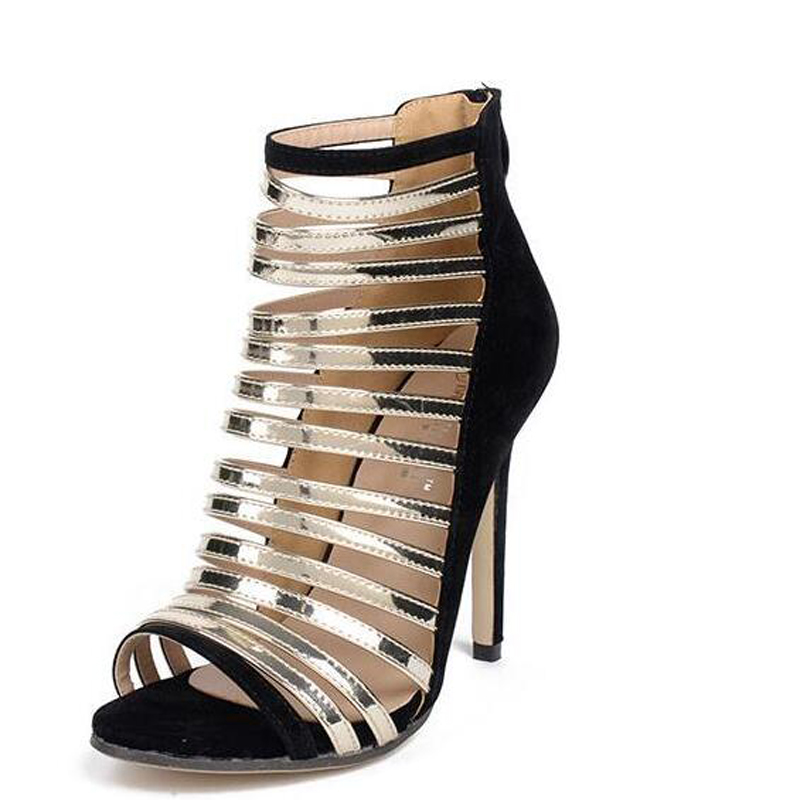 women fashion sandals Summer shoes nude peep toe high heels Gladiator Sandals Women heels sapato feminino womens sandals D1024<br><br>Aliexpress