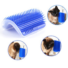 Hot Sale Pet Cat Comb Brush Massage Device Self Groomer Pet Dog Cat Hair Removal Brush Comb Pet Cat Toys(China)