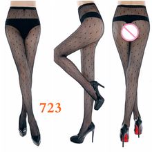 Buy Multi Style Sexy Small Mesh Jacquard Stockings Elastic Embroidery Pantyhose Fashion Striped Female Fishnet Stockings Tights
