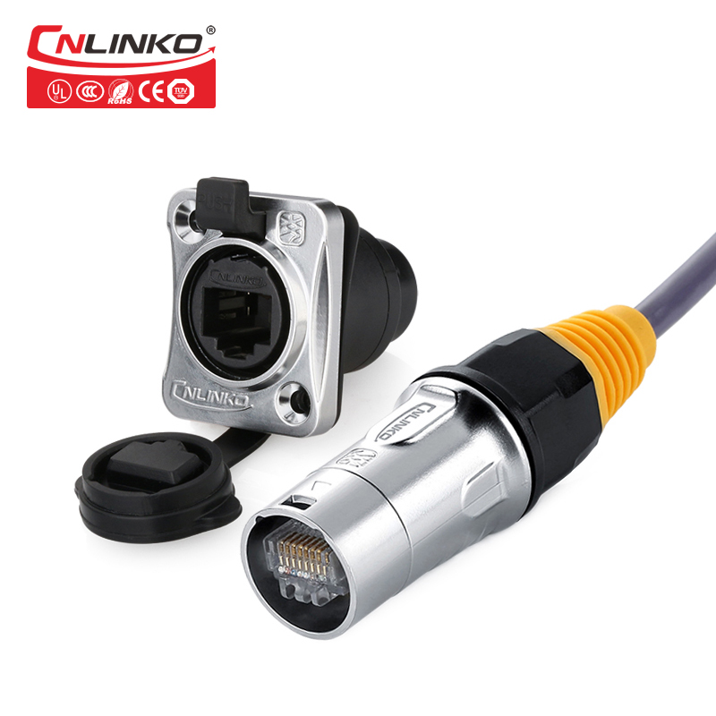 Plastic housing 7mm cable entry Cable Mount Inline 2.1mm DC Female Socket