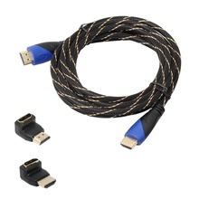 Newest 5M/10M Braided HDMI Cable V1.4 AV HD 3D for PS3 Xbox HDTV 1080P DF Cable Wire Cords