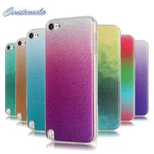 For Coque iPod Touch 5 Case Silicone Glitter Bling Gradient Cover FOR Touch 5 6 Transparent Phone Case For iPod Touch 5 6 Cover