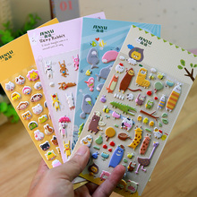1 PCS Kawaii Cartoon 3D Bubble Stickers DIY Planner Scrapbook Funny Album Phone Decorative Sticker Stationery Papelaria