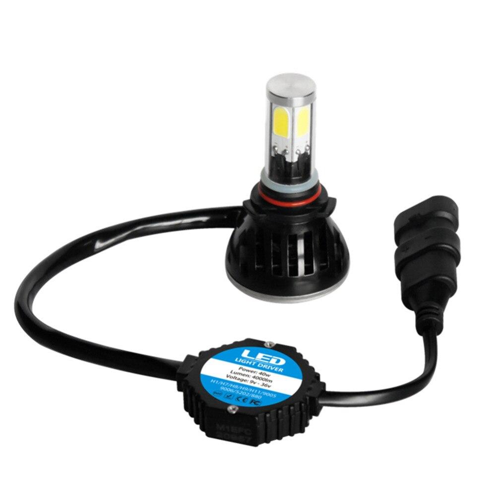 2PCS/Set SMD LED 40W 3600LM 6000K XENON White Bulb Car LED headlight headlamp  9005 <br>