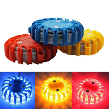 Super Bright Auto 16 LED Round Beacon Emergency Strobe Flashing Warning Lights Round Car Roof Police Light bar Road Safety Light(China)