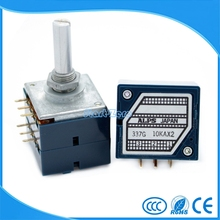 Japan ALPS RK27 6MM double volume potentiometer 10K 20K 50K 100K 250K round handle(China)