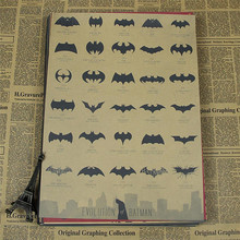 Home Decor Vintage Classic Movie Evolution of Batman Poster Retro Kraft Paper Bar Painting 42x30cm Wall Sticker