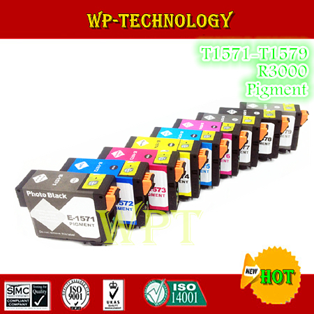 Compatible ink cartridges suit for T1571 - T15794 , E-1571 suit for Epson Stylus Photo R3000 , Full with Pigment Ink<br><br>Aliexpress