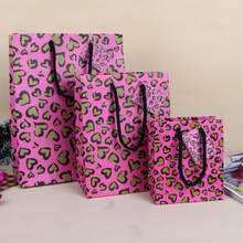Love Heart Paper Gift Bag Purple Color Art Birthday Gift Shopping Bag Full of Love Valentines Party Gift Pack SD791