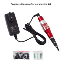 Sale Professional Tattoo Machines Permanent Eyebrows Makeup Pen Cosmetic Tattoo Machines Rotary red for tattoo Gun free shipping
