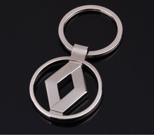 1Pcs Metal 3D Car Logo Keychain Key Chain Key Ring For Renault Auto Accessories Free shipping