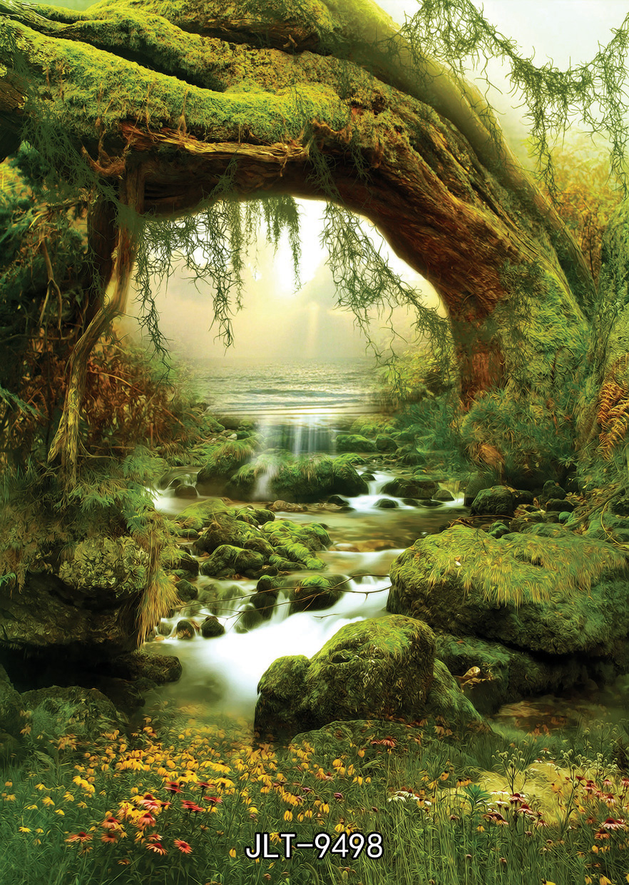 spring backdrop  150x210cm  Fantasy Fairy Tale photography background Forest picture background photography-studio-backdrop<br><br>Aliexpress