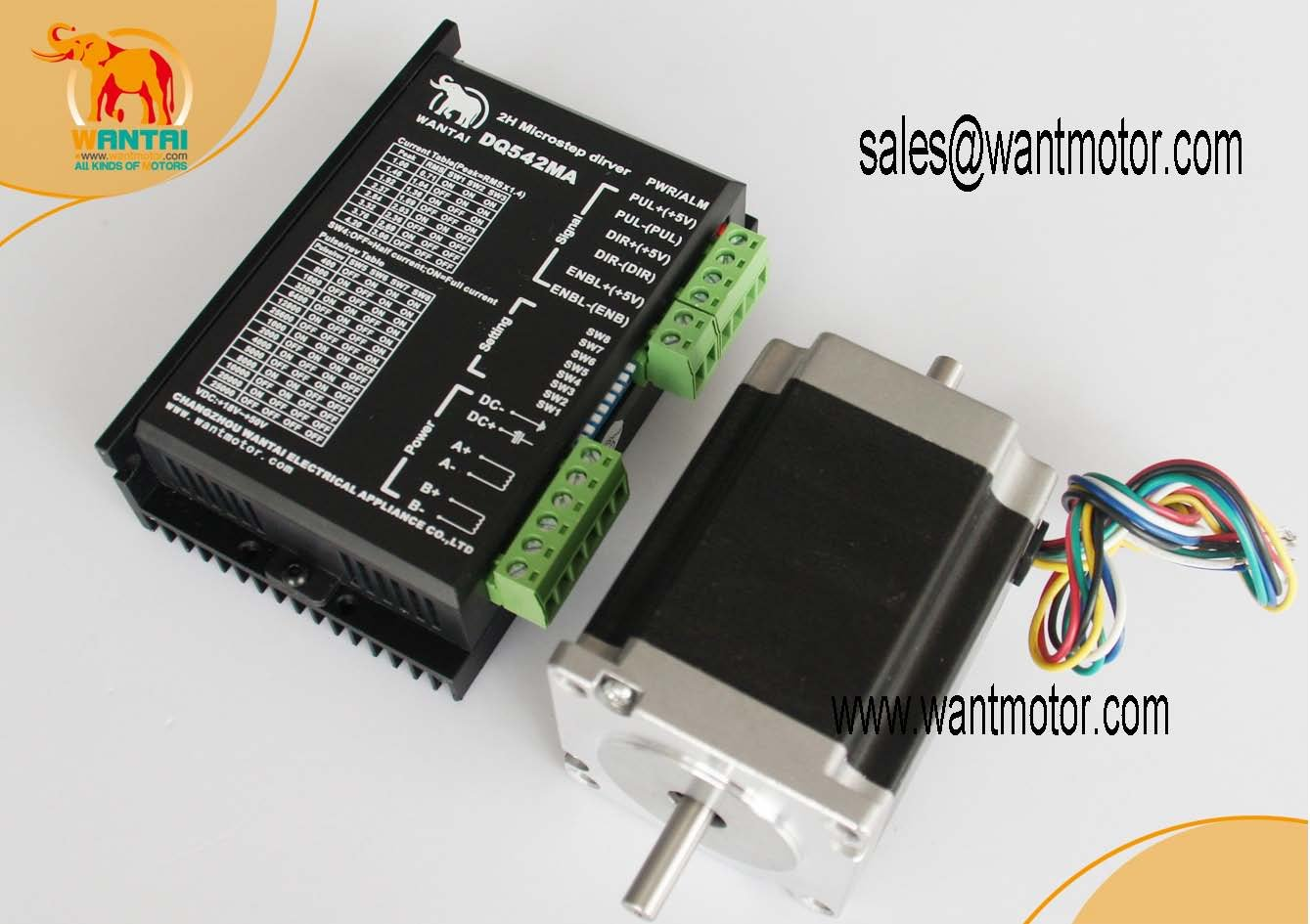 Dual Shaft 6 LEADS CNC Mill Nema23 Stepper Motor 270OZ-In ,3.0A,57BYGH633 Control DQ542MA with 4.2A/50V/125Microstep Kit<br><br>Aliexpress