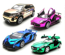 Free shipping super SportsCar/SportyCar model car,pull back/light/sound car collection,cars toys,kids gift boy fans collect toy