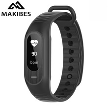 Makibes B15P Smart Bracelet Blood Pressure Heart Rate Bluetooth Smart Band Watch Sleep Monitor Call Reminder Stopwatch Alarm