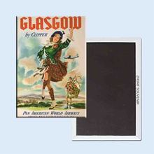 Glasgow by Clipper Pan American Airlines 24134 Retro nostalgic fridge magnets(Hong Kong)