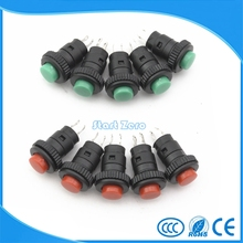 10Pcs 10MM Red Green Momentary Push Button Switch(China)