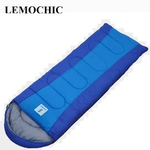 outdoor camping travel envelope style adult autumn winter cotton thermal portable emergency High quality sleeping bag(China)
