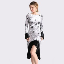 Buy Spring Women Velvet Floral Print Mermaid Dress Female Flare Sleeve Slim Waist Ruffles Elegant Sexy Luxury Evening Party Dresses for $15.22 in AliExpress store
