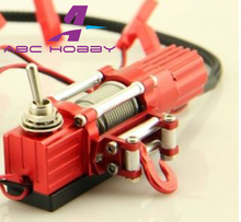 1/10 WINCH W/ SWITCH Alloy Metal For Rock Crawler Red 1set rc hobby RC D90 AXIAL TAMIYA silver+red