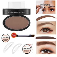 2017 New Eye Makeup Eyebrow Stamp Styling Tool Easy to Wear Waterproof Black Brown Eyebrow Powder Makeup With Brow Stamp