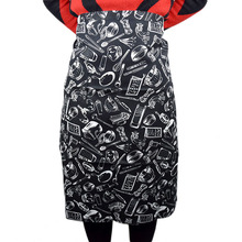 Printed Apron Stripe Aprons Cute Kitchen Cooking Clothing for Men Women Half Chef Uniform BBQ Restaurant Waiter Work Wear(China)