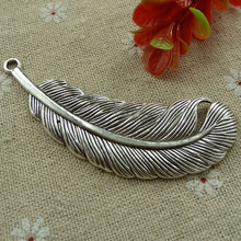 18 pieces tibetan silver leaves bookmarks 78x23mm #1564