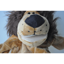 Cute Plush Velour Animals Hand Puppets Chic Designs Kid Child Learning Aid Toy (Lion)(China)