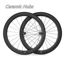 NGT Competition Road Carbon Wheels 700C Road Bike 38mm Clincher 23mm Width Bicycle Bike Wheelset Ceramic Hub(China)