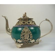 old handwork jade teapot decoration armored dragon monkey frog(China)