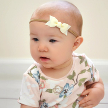 12pc Ribbon Bows Nylon Elastic Headband For Bebes Hair accessories Girls Bunny rabbit ears Hairband Kids Top Knot Bows Headwear