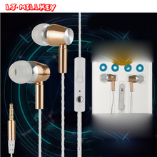 In-ear Earphone Flat Head Earbuds 3.5mm Wired Headsets Microphone LJ-MILLKEY YX002(China)