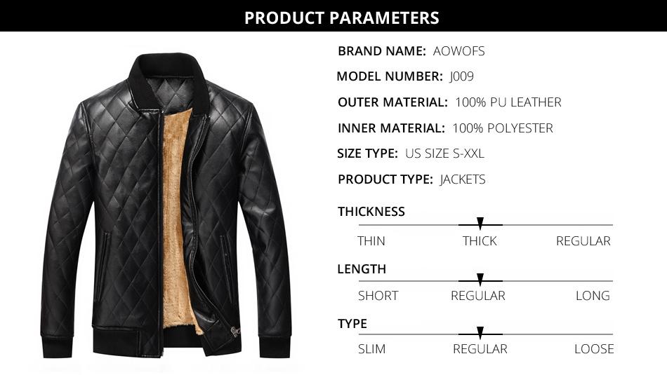 mens leather winter bomber jacket fur 05